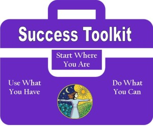 TOOLKIT FOLDER GRAPHIC with tagline